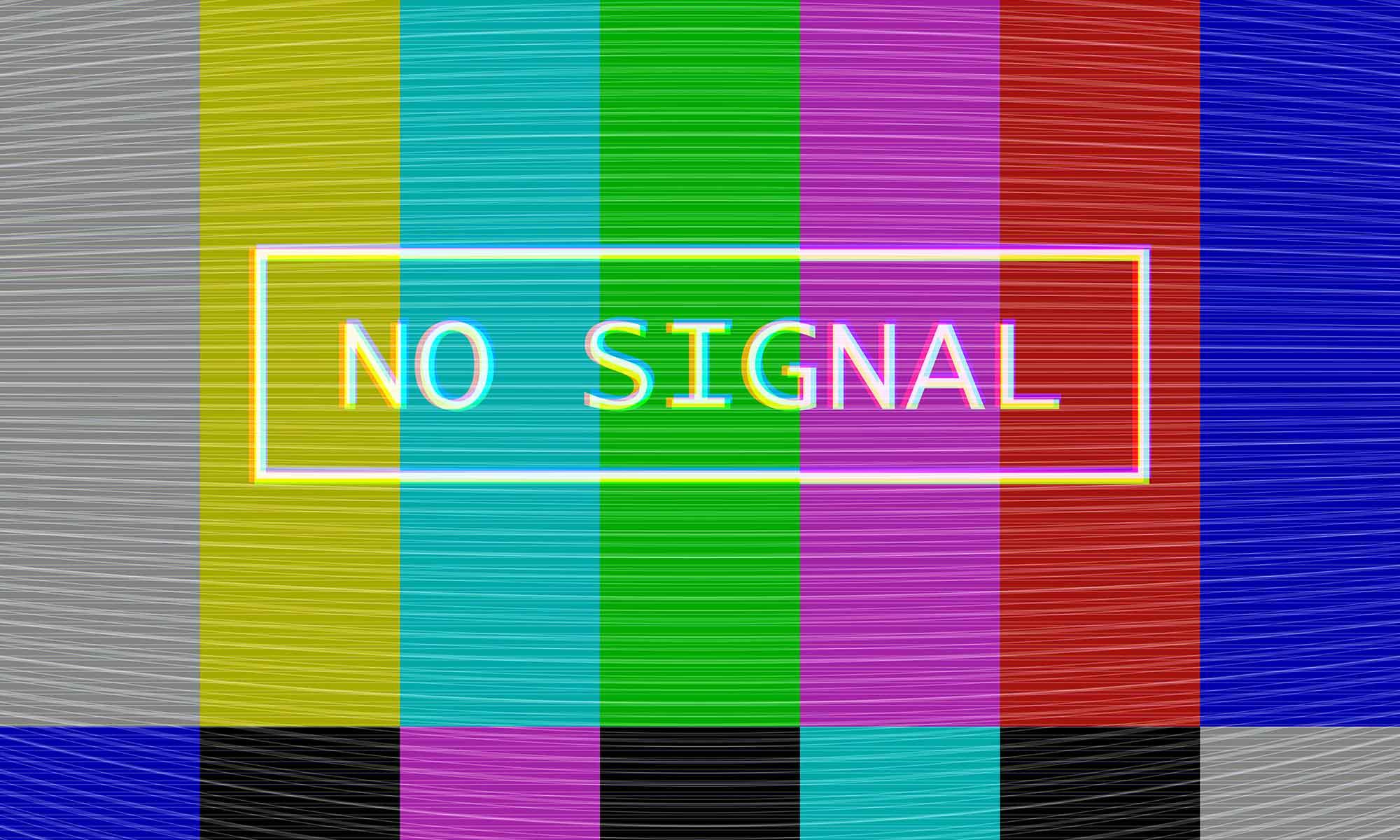 Signaalstoring beeldscherm