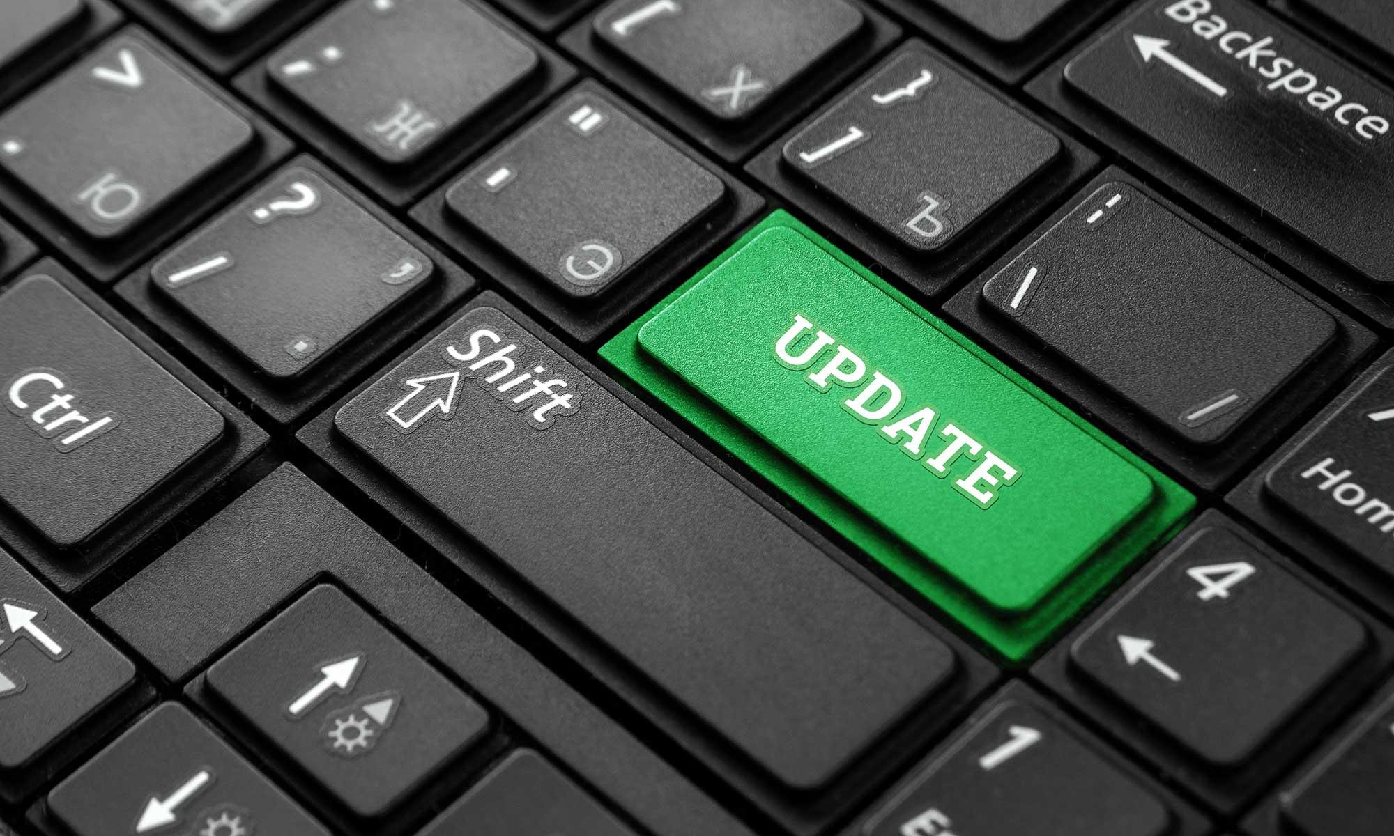 Toetsenbord met updateknop