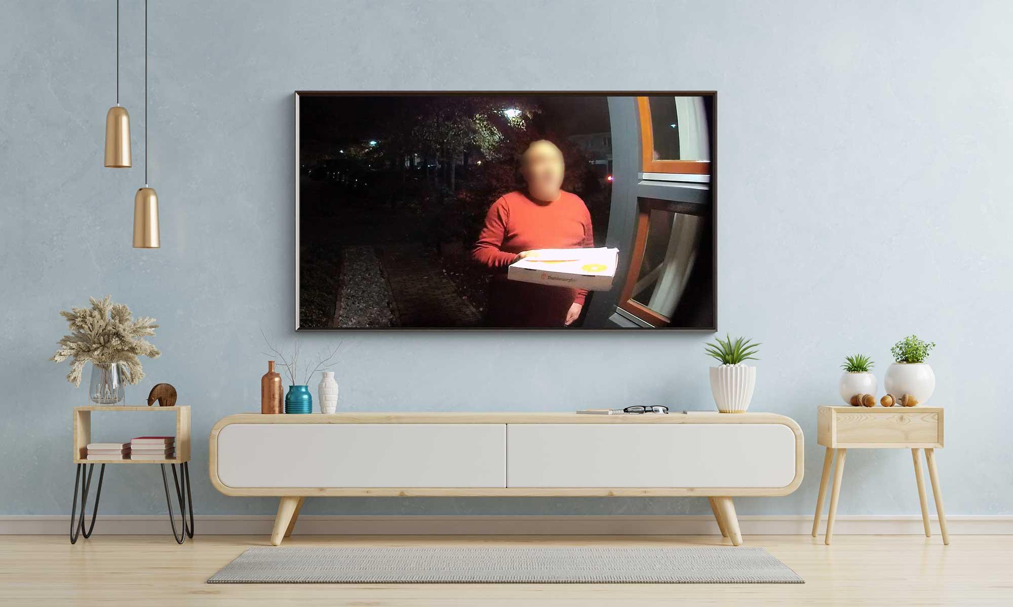 Ring beeld op TV